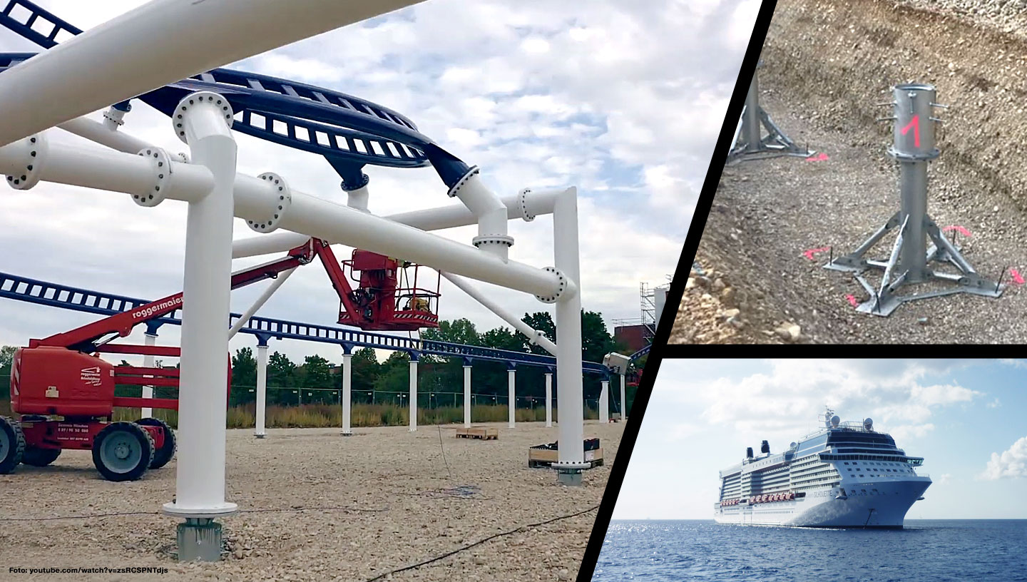 The world's first roller coaster on a brand new cruise ship is expected to set sail at the end of this year. It was built by Maurer Rides GmbH from Munich - with the support of BFTec GmbH from Nentershausen.